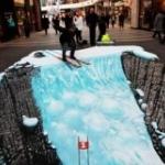 3D рисунок на лондонской улице