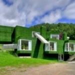 Зеленый дом, на зеленой улице в зеленом городке